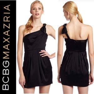 BCBG MaxAzria Black Monaco one shoulder mini Dress